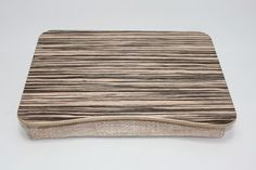 Wooden Laptop Bed Tray / Pillow Tray / iPad Table / Breakfast Tray / Serving Tray / Laptop Stand  Zebrano Light