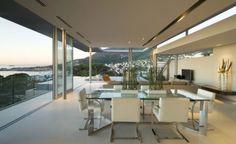esszimmer minimalistisch modernes luxus ferienvilla mit ozean blick