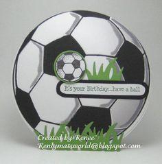 Soccer ball birthday card. Verse by Art Impressions