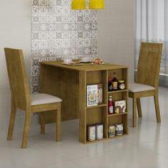 Conjunto Sala de Jantar Mesa 2 Cadeiras Quiara Siena Móveis Ypê/ Courino Areia 18 - Móveis para Salas de Jantar | Magazine Luiza