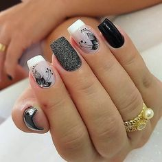 Classy Nails, Stylish Nails, Simple Nails, Nagellack Design, Nagellack Trends, Rock Nails, My Nails, Glitter Nails, Best Acrylic Nails