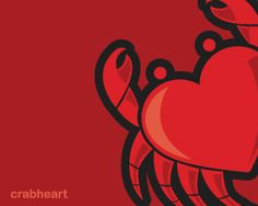 Crab Heart Logo design - Crab in heart shape logo. Great logo for restaurants, food, fashion, kids, fishing lovers, crab lovers nad many others.Browse more than 550 logos designed by MDSAlso see: http://brandcrowd.com/blog/interview-with-serbian-logo-designer-marko-jovanovic-mds/ Price $550.00 #logo #design