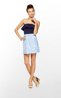 Lilly Pulitzer Summer '13-  Athens Dress in Tide Blue Hollar For A Dollar Eyelet $198