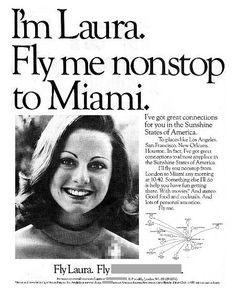 National Airlines 1971...I'm Laura ... fly me!