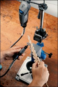 Transform your dremel rotary tool into a tabletop drill press with this work station!
