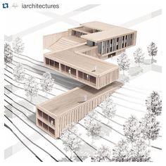 Landscape Architecture Model, Architecture Drawing Plan, Water Architecture, Architecture Model Making, Conceptual Architecture, Architecture Sketchbook, Cultural Architecture, Minimalist Architecture, Architecture Details