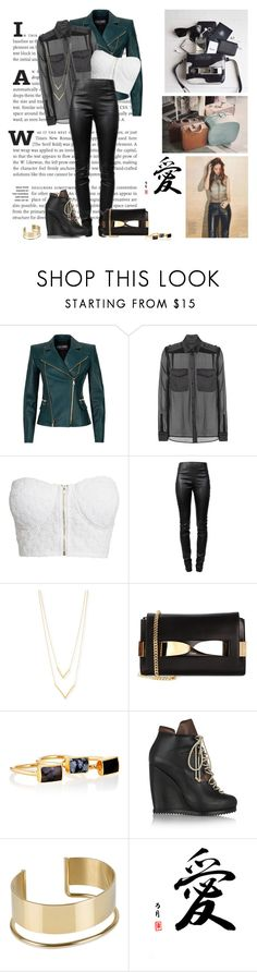 """Back to work..."" by nikol128 ❤ liked on Polyvore featuring Krystal, Balmain, Tom Ford, NLY Trend, Alexander Wang, Jennifer Zeuner, Chloé, Janna Conner, Pierre Hardy and By Malene Birger"