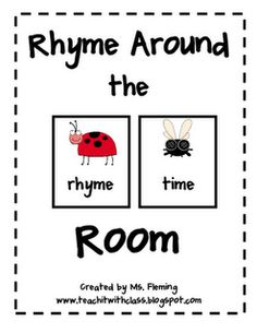 Rhyme Around the Room @Teach it with Class FREEBIE
