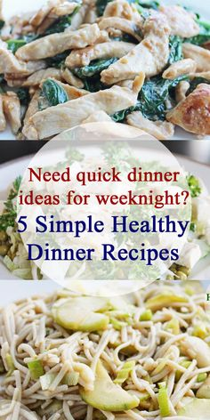 Enjoy easy healthy meals and clean eating recipes with our 5 simple healthy…