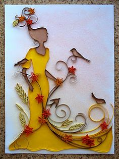 We have a Traditional Arts class in my school and we do quilling in that class my teacher will love this!