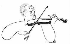 Jascha Heifetz (2 February 1901 – 10 December 1987), by Al Hirschfeld
