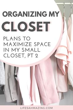 I've got some parts of my closet organized to a T. Other areas? Not so much. In this post, I'm sharing my messes and my closet organization plan. Get ideas for how to tackle your space and maximize the space if you've got a small closet like mine. #closetorganization #closetstorage #bedroomstorage #closethacks Small Closet Organization, Closet Storage, Bedroom Storage, Organizing, Closet Hacks, Closet Ideas, Master Closet Design, How To Organize Your Closet, Minimalist Closet