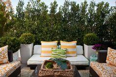 yellow & green outdoor room - Armonia Decors