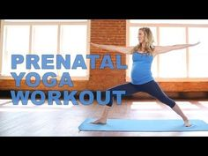 Prenatal Yoga Workout with Celebrity Trainer, Kristin McGee! - YouTube