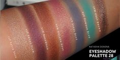 NATASHA DENONA Eyeshadow Palette 10&28(Green Brown,Purple Blue) Swatches for Mid/Tan/Olive Skin. | Morena Makeup