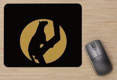 tapis de souris / mouse pad leopard big cat felin