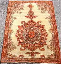 Mission Malayer rug, size 4 ft 6 in x 6 ft 2 in, hand knotted wool, Iran, 19thC  I Allan Arthur Oriental Rugs