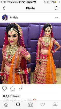 Indian Bridal Outfits, Indian Bridal Lehenga, Indian Bridal Wear, Indian Dresses, Bridal Dresses, Bridal Looks, Bridal Style, Wedding Lehnga, Indian Bride And Groom