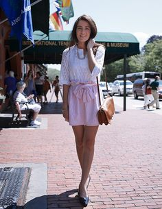 love the skirt and the eyelet shirt! So breezy for summer.