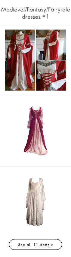 """""""Medieval/Fantasy/Fairytale dresses #1"""" by nerdbucket ❤ liked on Polyvore featuring dresses, gowns, medieval, costume, vestidos, medieval dresses, costumes, long dresses, laurel and gown"""