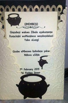 Zulu Traditional Wedding Invitation Cards Designs Check more at www. - Zulu Traditional Wedding Invitation Cards Designs Check more at. Zulu Traditional Wedding, Traditional Wedding Invitations, Traditional Decor, Traditional Dresses, Wedding Invitation Video, Wedding Invitation Card Design, Invitation Ideas, Business Invitation, Invites