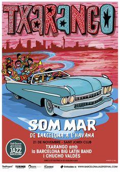 47 Voll-Damm Festival Internacional de Jazz de Barcelona - Catalonia (Poster design by Javier Mariscal)