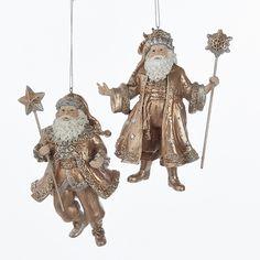 ROSE GOLD SANTA ORNAMENTS #C6727 Rose Gold Christmas Decorations, Holiday Decor, Santa Ornaments, Clock, Ceiling Lights, Believe, Space, Home Decor, Eagle