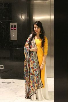 Back in time with the colorful phulkari; and add the glow with yellow