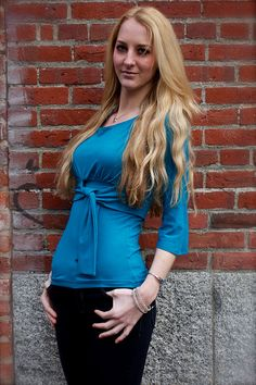 Lyra Bamboo Organic Cotton Top in Deep Teal by Salts on Etsy