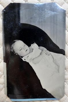 Beautiful Victorian Post Mortem Tintype Photo Baby Winifred Dennis Warsaw NY | eBay