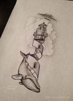 samuele briganti light house tattoo - Google Search