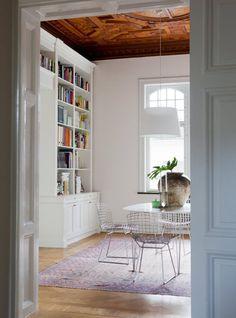 White bookshelves