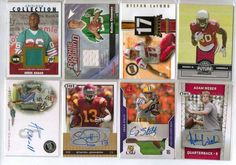 8 card NFL Auto and Gu Lot Panthers Jets Cardinals Dolphins