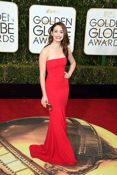 Emmy Rossum in Armani Privé - Golden Globe Awards 2016