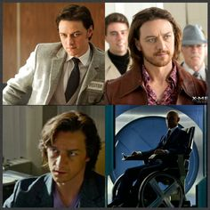 Evolution of Charles Xavier ( James McAvoy) in the X Men movies
