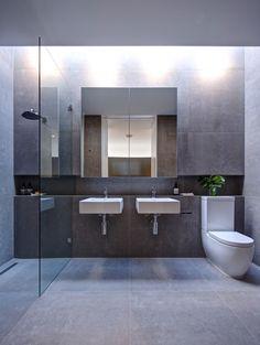 Brooklyn Prefab by Modscape on Behance Diy Bathroom Decor, Bathroom Sets, Bathroom Interior Design, Modern Bathroom, Small Bathroom, Bathroom Laundry, Industrial Bathroom, Downstairs Bathroom, Prefabricated Houses