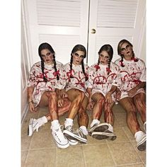 For me, the best part of a Halloween costume is not what you put on your body, but what you do to your body. The hair and makeup are what make a good costume. Anyone can throw together a t-shirt...: