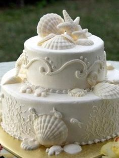 We really want our sandcastle cake BUT we could always get a small sandcastle cake and then something like this. :)