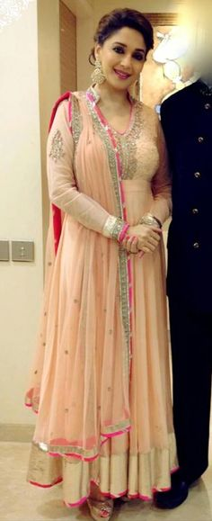 Madhuri Dixit in Anarkali #salwaar kameez #chudidar #chudidar kameez #anarkali #anarkali suits #dress #indian #hp #outfit #shaadi #bridal #fashion #style #desi #designer #wedding #gorgeous #beautiful