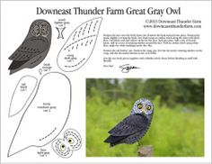 Recently, Sheena wrote: I would love you to produce a great grey owl pattern. My daughter had a great grey owl fly up the isle at her wedding land on her husband's arm and deliver their rings… Felt Owls, Felt Birds, Felt Animals, Felt Crafts Patterns, Bird Patterns, Felt Christmas Decorations, Felt Christmas Ornaments, Strix Nebulosa, Bird Template