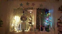 Elizabethkine vianočné okno podla frozen rozpravky