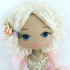 Handmade doll, bespoke Doll Australia, custom doll, Full price for each custom handmade doll starts at $600.00 - this is dependent on clothing design & detail required The desig