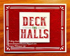 Stampin' in the Sand: Christmas In July Blog Hop . Carols of Christmas stamp set . Stampin UP