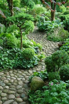 garten // garden Design 111 garden paths Examples - 7 great materials for the floor in the garden! Garden Types, Garden Paths, Walkway Garden, Rock Pathway, Diy Garden, Amazing Gardens, Beautiful Gardens, Woodland Garden, Garden Cottage