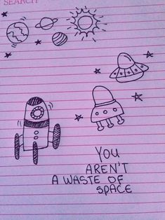 Fortune coffee say... (with all sorts of space doodles)
