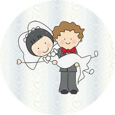 Casamento Noivos Fofinhos – Kit Completo com molduras para convites, rótulos para guloseimas, lembrancinhas e imagens! | Fazendo a Nossa Festa