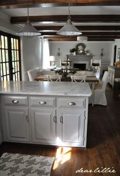 Wall color: horizon in eggshell by BM, trim simply white semi-color by BM by Dear Lillie