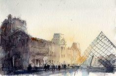 Louvre,Paris | Flickr - Photo Sharing! #watercolor jd