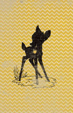 Bambi Tinkerbell Minnie Cheshire Silhouettes by WITHHEARTSTUDIOS