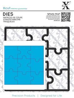 Die Cutting Square Rectangle Xcut Metal Dies *PARENTHESIS* 2 Piece DoCrafts